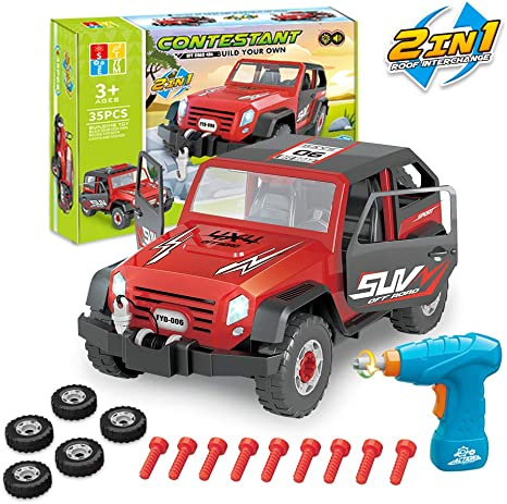 Model Jeep SUV Children/'s Toy Car Off-road Car Childhood Puzzle Multiple Color