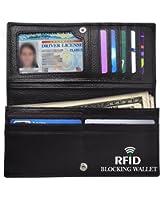 RFID Blocking Wallet, Women RFID Blocking Synthetic Leather Bifold Change Wallet Clutch