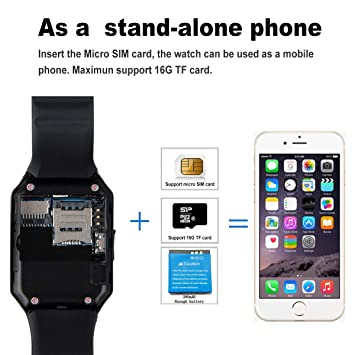 smartwatch ZKCREATION Bluetooth Reloj Inteligente DZ09 smartwatch sim Rastreador Fitness smartwatch Hombre Pulsera Actividad Inteligente whatapp cámaras ...