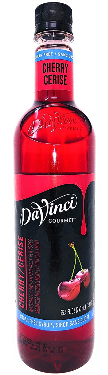 DaVinci Gourmet Sugar Free Cherry Syrup, 750 mL Plastic Bottle
