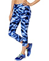 Calvin Klein Performance Women's Jete Printed Abstract Cropped Leggings