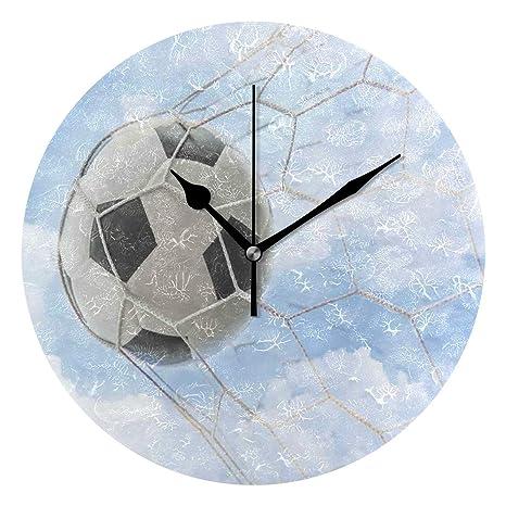 LISUMAL Balón de fútbol en la portería con Cielo Nublado Verano ...