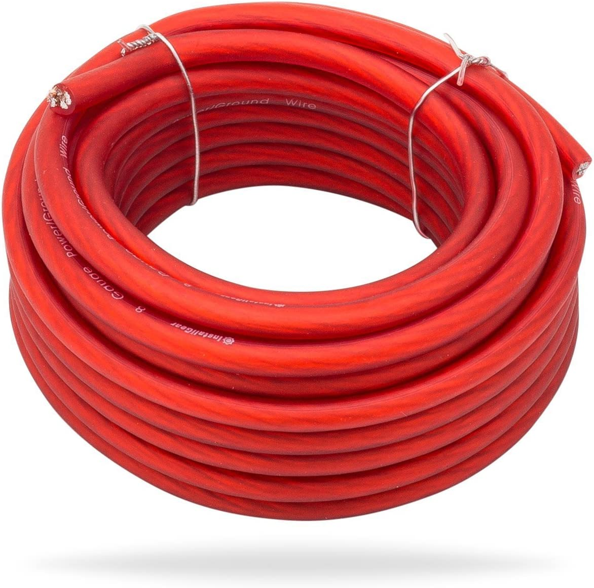 99.9/% Oxygen-Free Copper OFC InstallGear 4 Gauge Red 25ft Power//Ground Wire