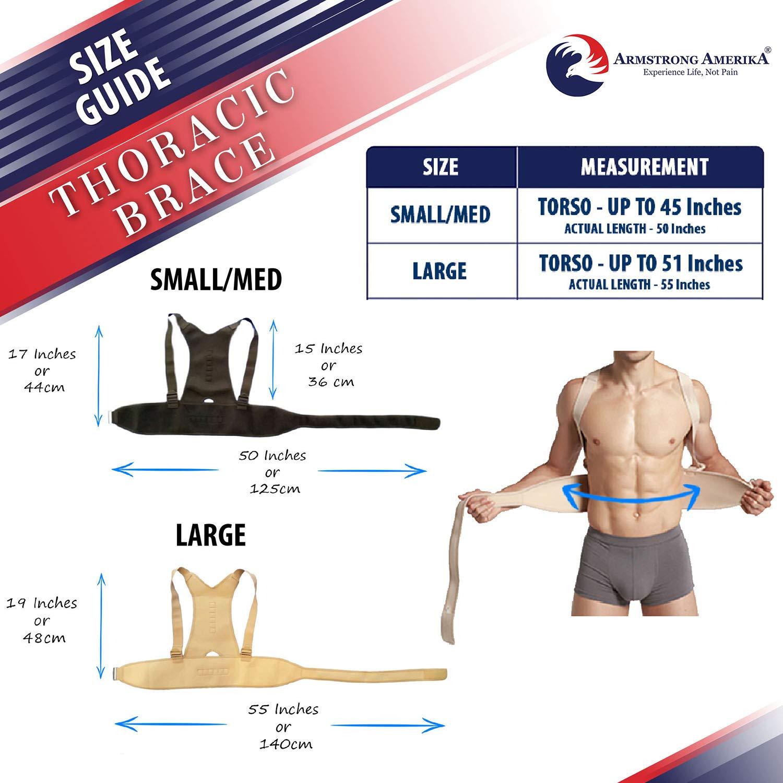 Magnetic Support for Back Neck Shoulder /& Upper Back Pain Relief Perfect Posture Brace for Cervical /& Lumbar Spine Fully Adjustable Belt /& Strap Thoracic Back Brace Posture Corrector Beige - Small