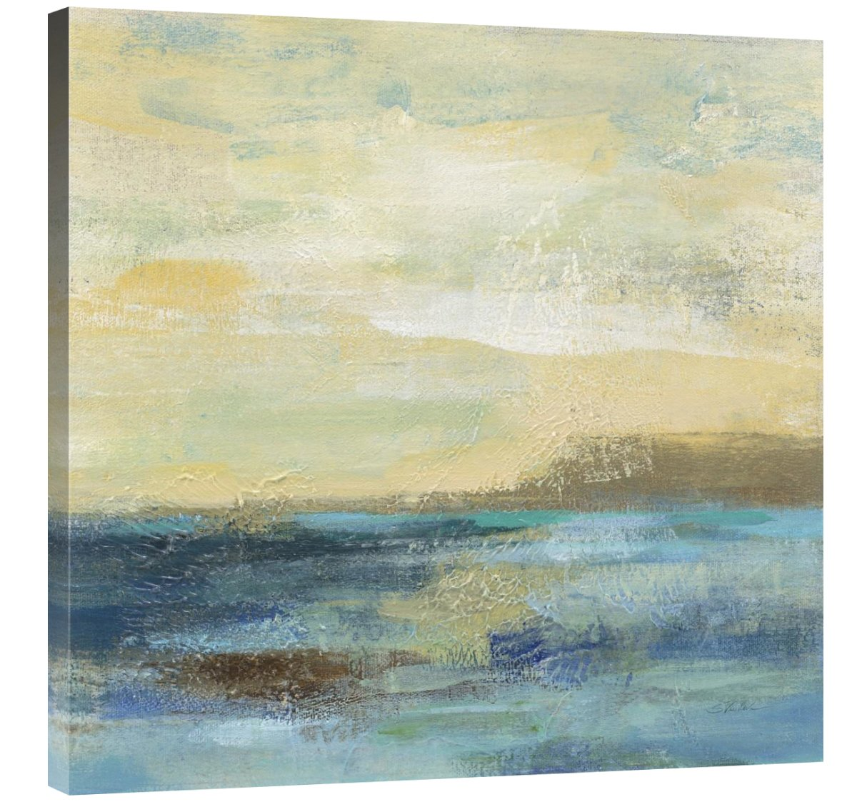 Sunset Beach II Giclee Stretched Canvas Artwork 30 x 30 Global Gallery Silvia Vassileva
