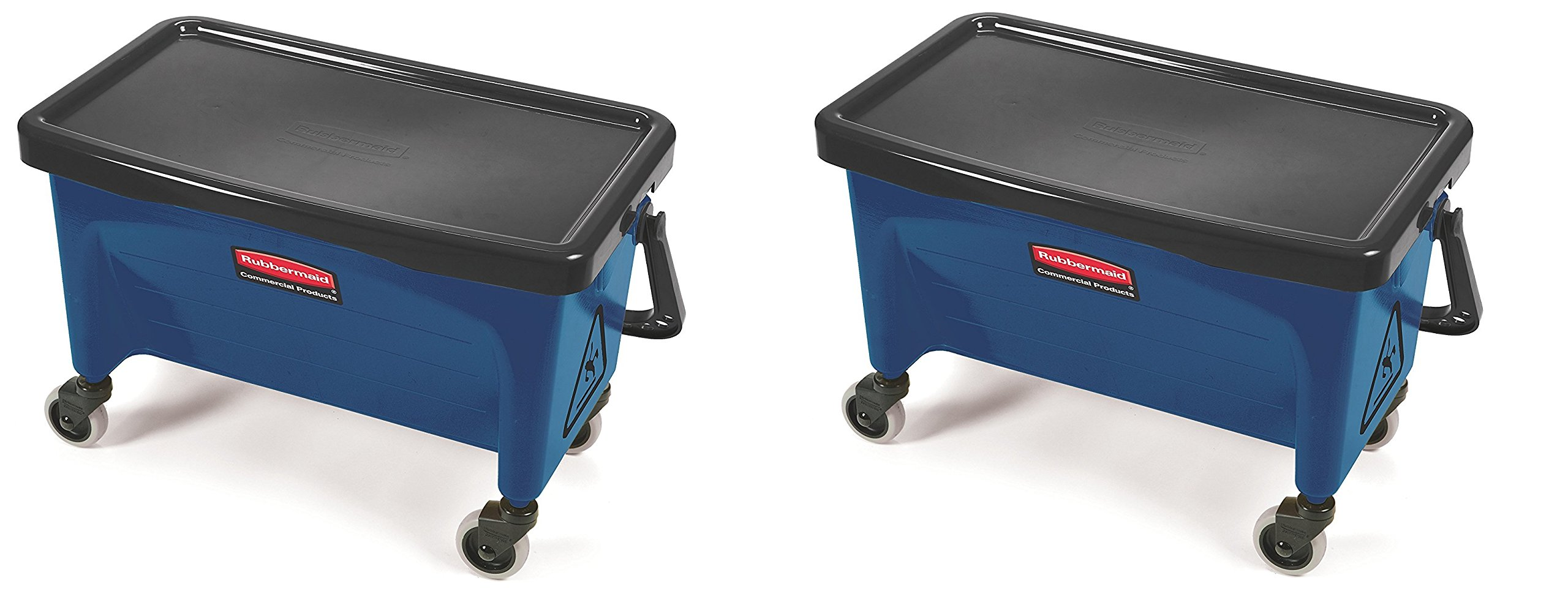 Rubbermaid Commercial Finish Mop Bucket with Wringer, 28-Quart, Blue (2 PACK)