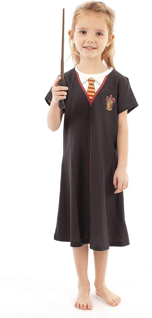 Harry Potter Gryffindor Cloak Disfraz Negro Niñas Cosplay Vestido Niños