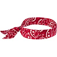 Ergodyne Chill-Its 6700 Evaporative Polymer Cooling Bandana - Tie Closure, Red Western