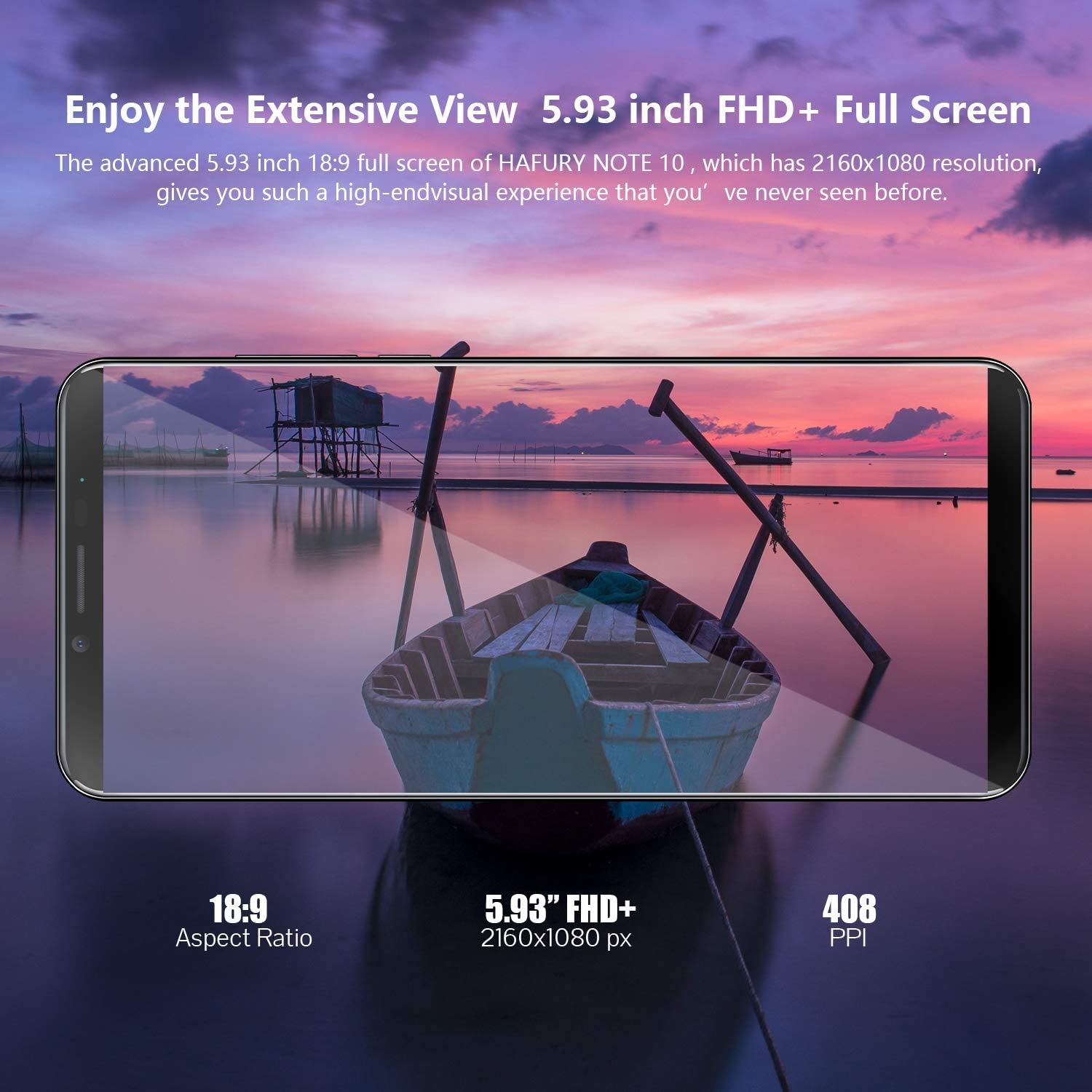 Gradient Dual Sim Dual Camera/Mobile phone 128GB Extension 4GB RAM+32GB ROM HAFURY NOTE 10/4G/Android 9 Sim Free Unlocked Smartphone,/5.93 inch FHD+/Display/with 4000mAh Battery