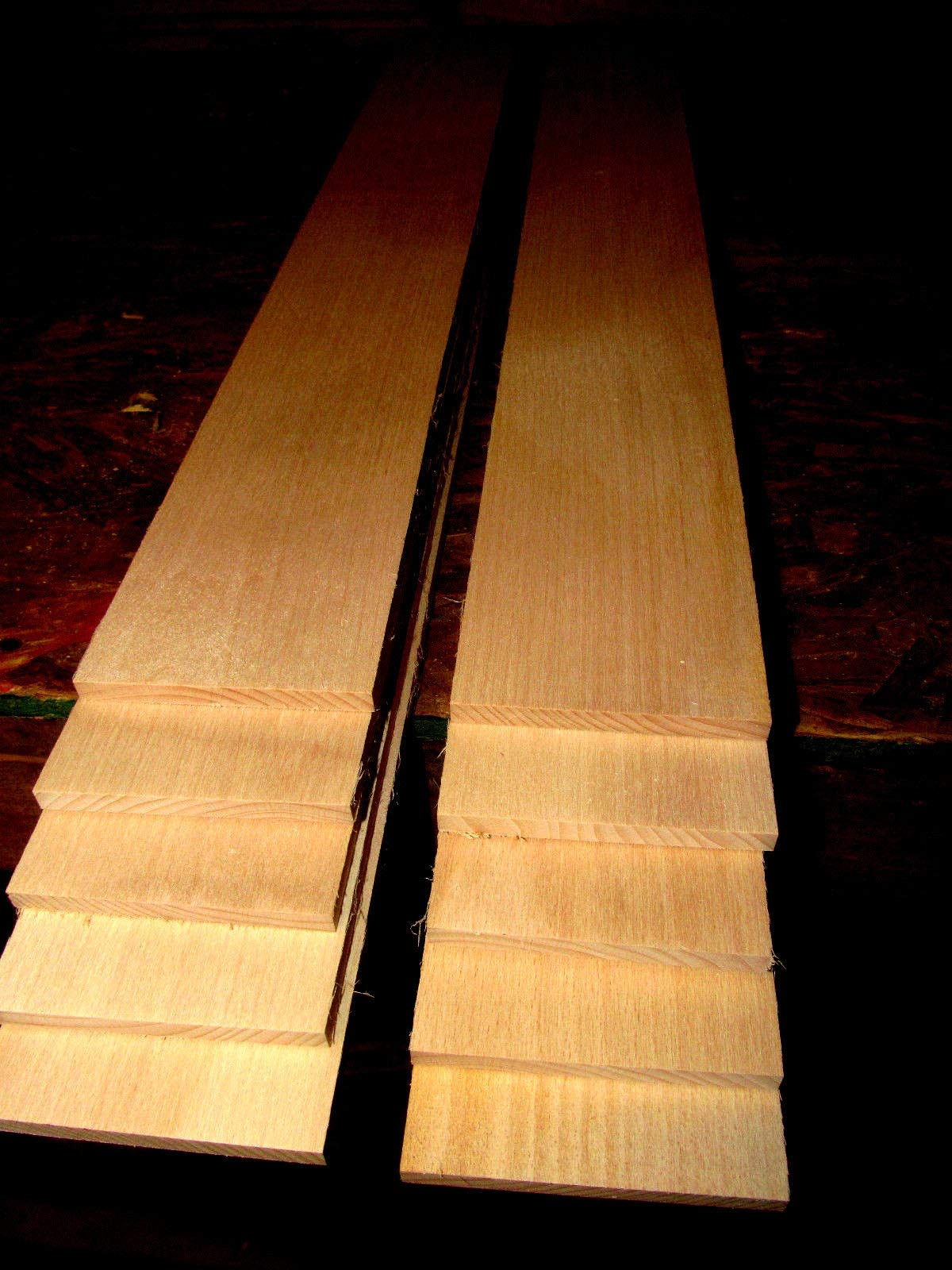 Packages of Thin Premium KILN Dried, Sanded Beech Lumber Five 24'' X 6'' X 3/8''