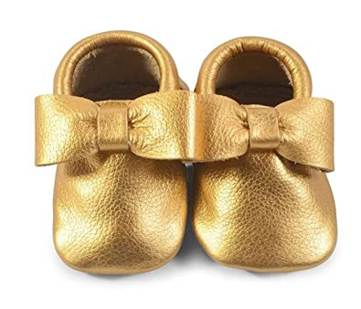 644784c52dca4 The Coral Pear Baby Moccasins Bow Moccasin Leather Shoes for Babies &  Toddlers