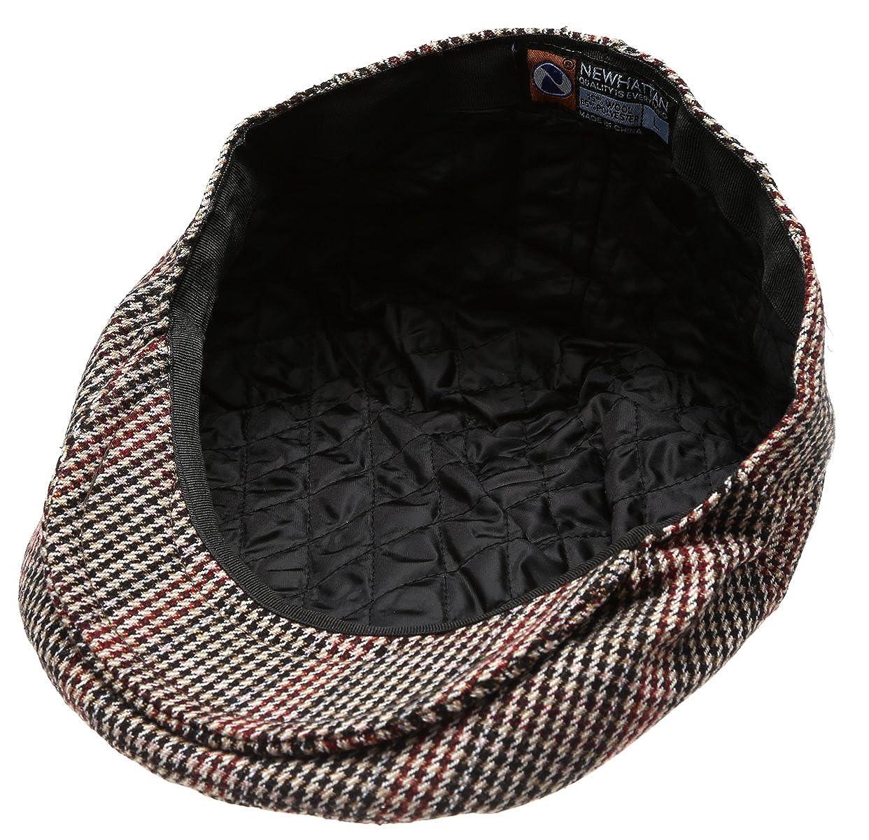 Mens Collection Wool Blend Herringbone Tweed Newsboy Ivy Hat with Dress Socks.