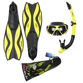 Gul Tarpon Mask Snorkel and Fin Set  Amazon.co.uk  Sports   Outdoors 56f5a1afe