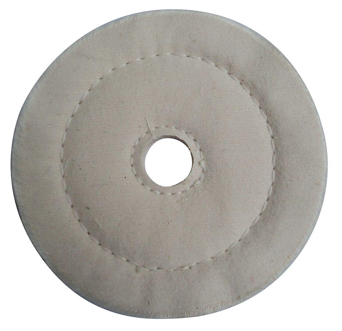 Buffing Wheel, Cushion Sewn, 6 In Dia. - pack of 5