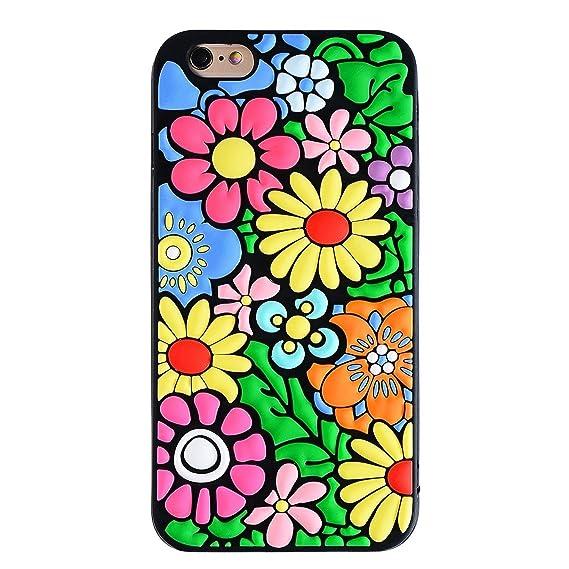 amazon com joyleop flowers case for iphone 6 6s,3d colorful vivid