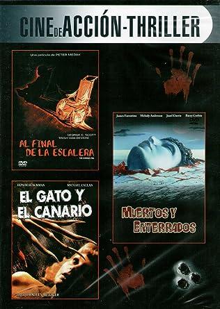 Al final de la escalera / Muertos y enterrados / El gato y el canario: Amazon.es: Cine y Series TV