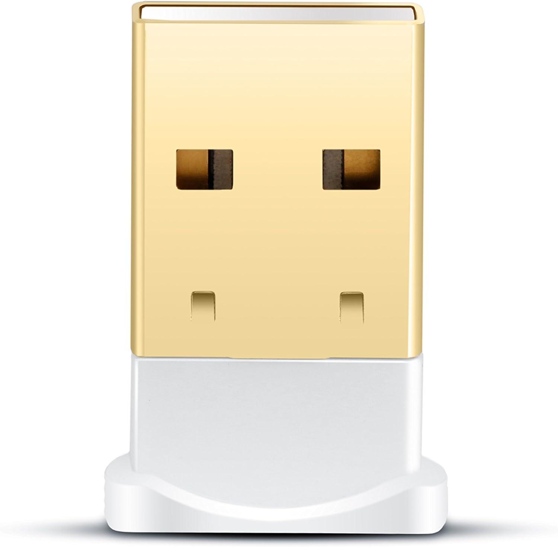 CSL - USB Nano Bluetooth V4.0 Adaptador - Tecnología Class 4.0 - El estándar más Moderno - Plug y Play - Compatible Windows 10 - Blanco
