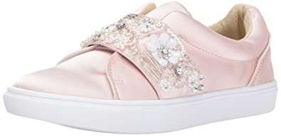 Blue by Betsey Johnson Women's Sb-Eva Fashion Sneaker, Blush Satin, ...