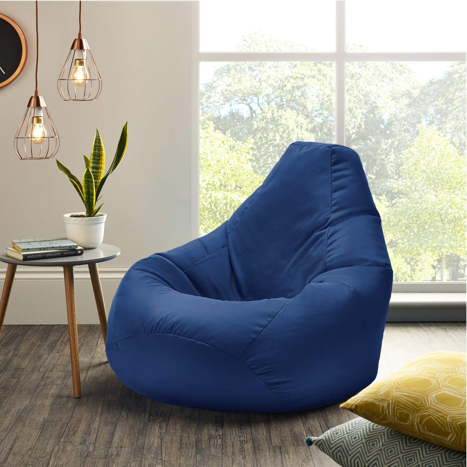 Superb Amazon Com Beautiful Beanbags Ltd Xx L Blue Highback Caraccident5 Cool Chair Designs And Ideas Caraccident5Info