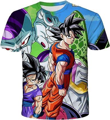 Camiseta Dragon Ball Hombre, Camiseta Dragon Ball Niño Chicos Camiseta Dragon Ball Z Camiseta Dragon Ball Goku Deporte Casual 3D Impresión T-Shirt Verano de Camisetas y Tops: Amazon.es: Ropa y accesorios