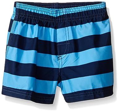 6815290c03176 Kanu Surf Baby Boys' Troy Swim Trunk, Navy/Blue, 12 Months