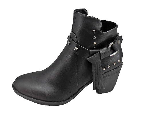 Chica 10 - Botin Rodeo para Mujeres, Talla 41, Color Negro: Amazon.es: Zapatos y complementos