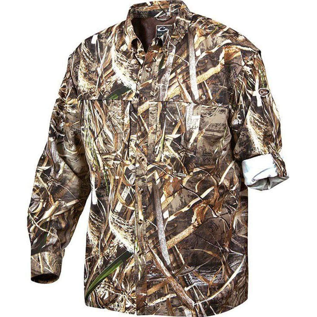 Drake Waterfowl Men's Wingshooter's Long-Sleeve Shirt Realtree Max 5 (M) by Drake Waterfowl