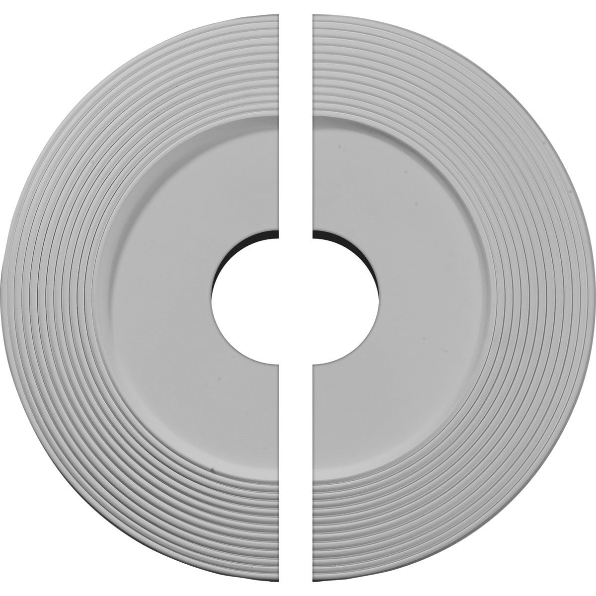 Ekena Millwork CM16AD2 16 1/8''OD x 3 5/8''ID x 1''P Adonis Ceiling Medallion, Two Piece (Fits Canopies up to 10 1/4''), Factory Primed and Ready to Paint
