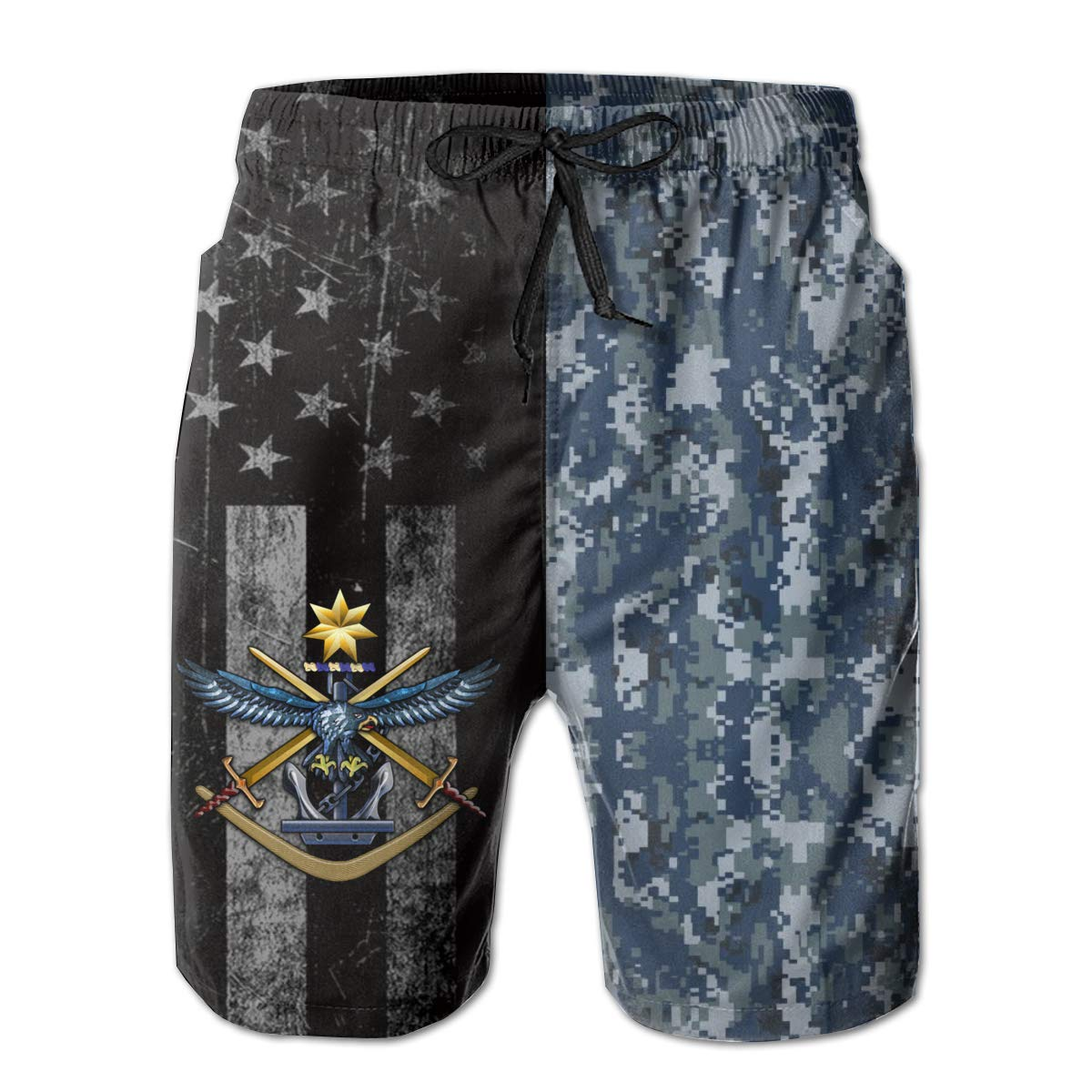 HANINPZ Australian Defence Force Emblem Mens Swim Trunks Beach Short Board Shorts