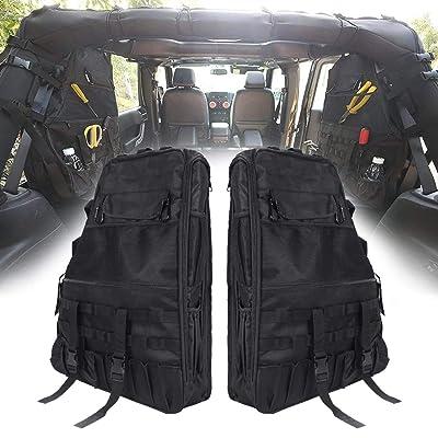 SUPAREE Roll Bar Storage Bag Cargo Cage for 1997-2020 Jeep Wrangler JK TJ LJ & Unlimited 4-Door with Multi-Pockets Tool Kits Bottle Drink Phone Tissue Gadget Holder: Automotive [5Bkhe1011491]