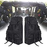 SUPAREE Roll Bar Storage Bag Cargo Cage for 1997-2020 Jeep Wrangler JK TJ LJ & Unlimited JL 4-Door with Multi-Pockets & Organ