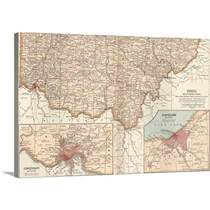 Amazon.com: Gallery-Wrapped Canvas Entitled Ohio, Southern ...