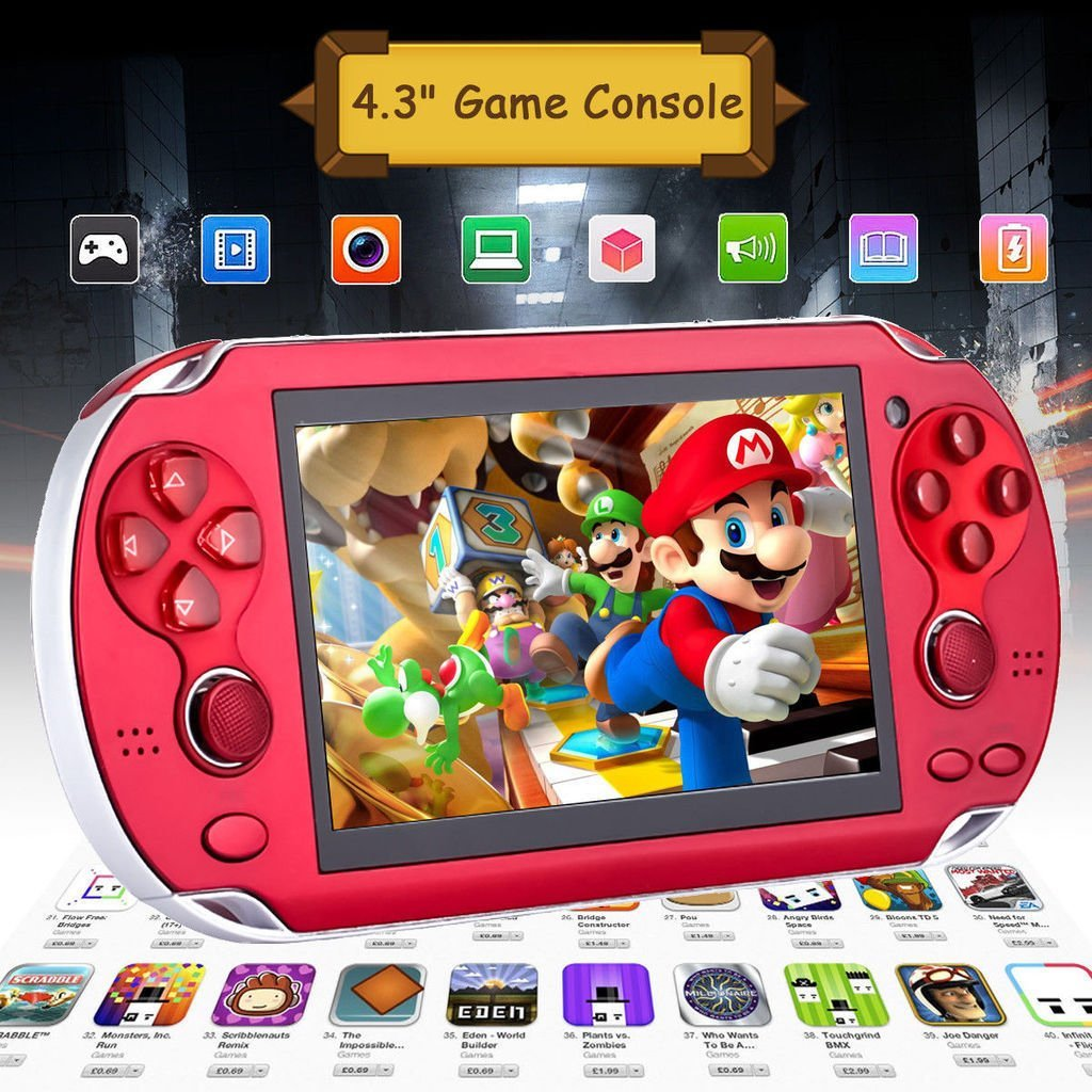 Portable 8GB Handheld PSP Game Console Player Built-in 2000