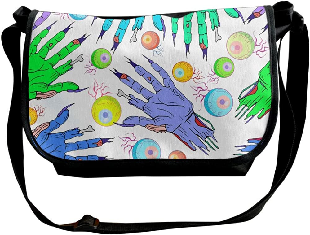 Zombie Hand And Eye Crossbody Bags Purse For Women Travel Bag Sling Pouch