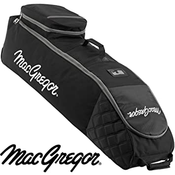MacGregor 2018 Deluxe VIP II Padded Premium Travel Flight - Golf Bag Cover-Wheeled Black/Blue