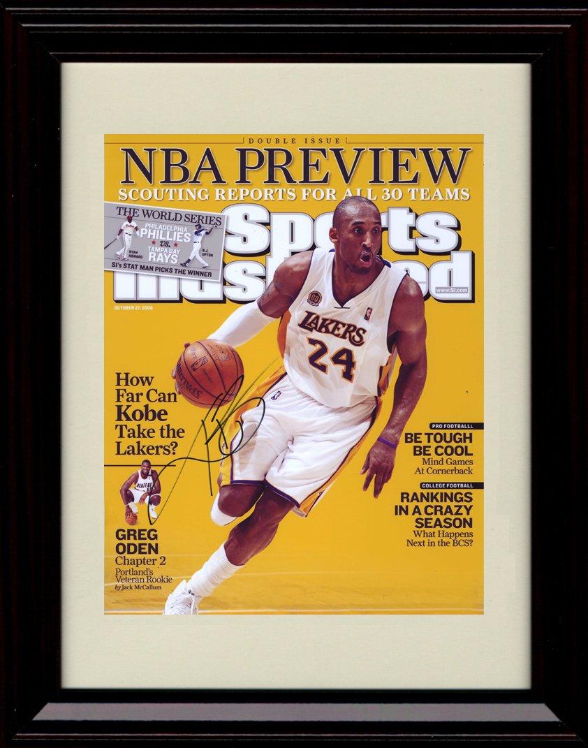 Framed Kobe Bryant Sports Illustrated Autograph印刷 – NBAプレビュー – Los Angeles Lakers   B00ERE76C0