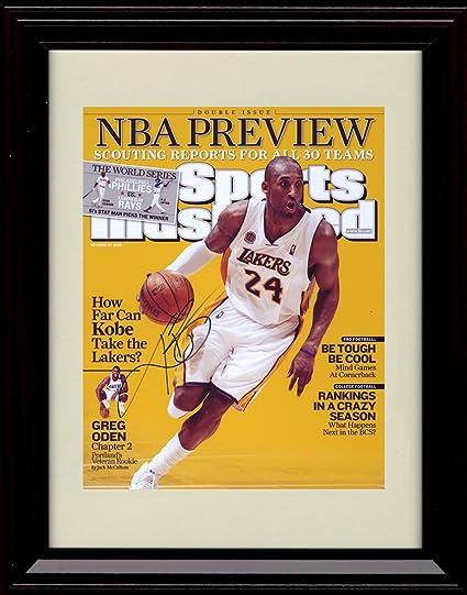 f240683cd52a Amazon.com  Framed Kobe Bryant Sports Illustrated Autograph Print ...