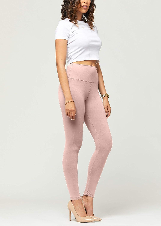 Premium-Leggings, besonders weich, hohe Taille, 20 + Farben in Capri- und volle Länge, normale Größe und Übergröße Volle Länge Mauve