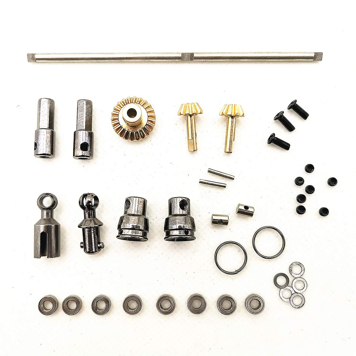 Small Metal Op Parts Rabusion Upgrade Metal OP Accessories Toy for 1 16 WPL B14 B16 B24 C14 C24 B36 RC Car Sixwheel drive OP + drive shaft