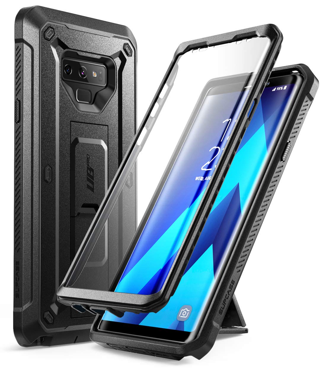 SUPCASE Unicorn Beetle Pro Series Design for Samsung Galaxy Note 9 Case,  with Built-in Screen Protector & Kickstand Full-Body Rugged Holster Case  for