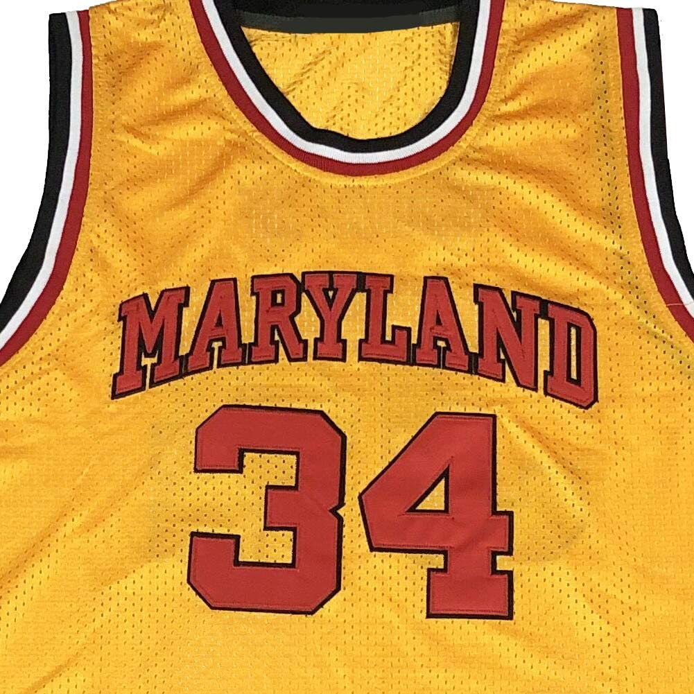N-A Mens Len 34 Bias Maryland Terrapins Movie Basketball Jersey Stitched
