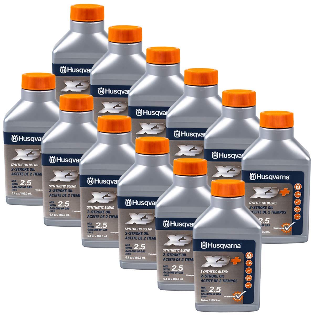 Husqvarna 12PK Genuine OEM XP 2-Cycle Oil 2.5 Gallon Mix 6.4oz 593152303 by Husqvarna
