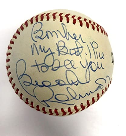 e751693347e Image Unavailable. Image not available for. Color  Brooks Robinson Signed  Baseball - Little League Inscribed ...