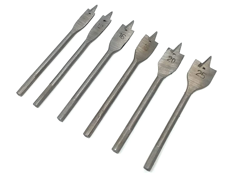 6pcs Wood Boring Spade Flat Head Metric Drill Bit Set 10mm 12mm 16mm 18mm 20mm 25mm Bit