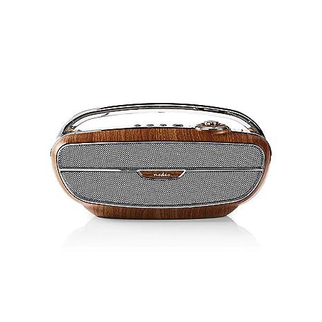 Altavoz portátil Bluetooth Radio diseño Retro FM Tarjeta SD ...