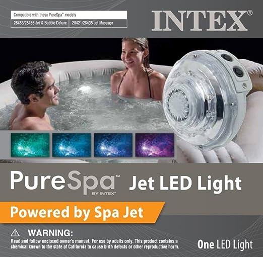 Intex Mehrfarbiges LED-Licht mit Wasserkraft für Jet & Bubble Deluxe