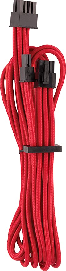 Cables CORSAIR Premium Individually Sleeved PCIe for Corsair PSUs Red 2 Yr Warranty Single Connector