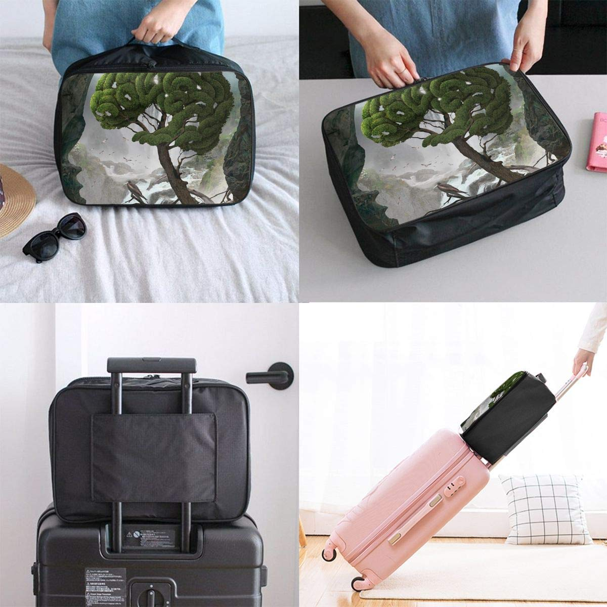 Lightweight Large Capacity Portable Duffel Bag for Men /& Women Tree Brain Travel Duffel Bag Backpack JTRVW Luggage Bags for Travel