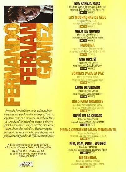 Pack: Fernando Fernán Gómez Incluye 12 Películas DVD: Amazon.es: Fernando Fernán Gómez, Elvira Quintilla, Analia Gade, Rafael Alonso, Manuel Alexandre, María Felix, Fernando Rey, Elisa Montes, Antonio Ozores, José Isbert, Tony Leblanc,