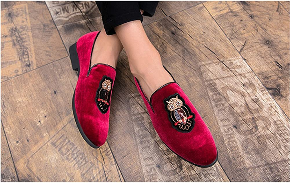 SYH Men/'s Casula Summer Round Toe Penny Loafers Smoking Nightclub Party Shoes